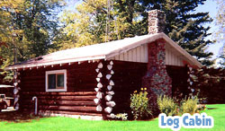 image of leinos resort log cabin